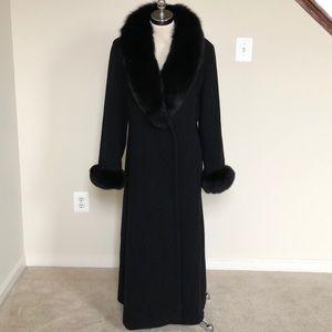 Marvin Richard Fox Fur Cashmere Long Coat